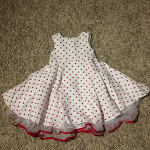 Good Lad white and red polka dot dress 18 months